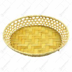 Cos servire ovala confectionat din bambus - Design Rustic