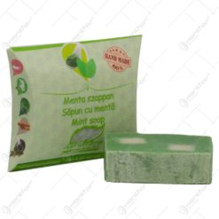 Sapun handmade cu plante medicinale - Menta cu argila verde - 70 gr