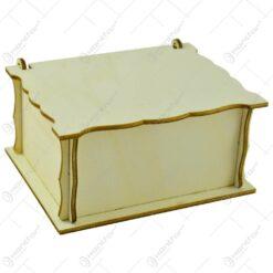 Cutie decorativa pentru depozitare realizata din lemn