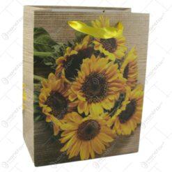 Punga cadou din hartie 18x23 CM - Floarea-Soarelui