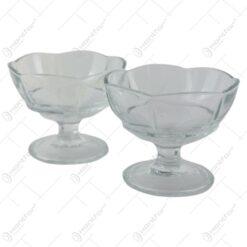 Set 2 cupe pentru inghetata din sticla Iceville