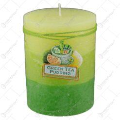 Lumanare cilindrica parfumata Green Tea Pudding 7x9 CM