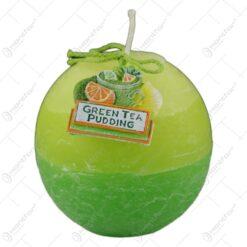 Lumanare glob Green Tea Pudding 8x10CM