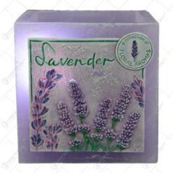 Lumanare tip lampion - Lavender 11x11 CM