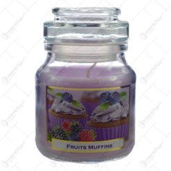 Lumanare parfumata in recipient de sticla - Fruits Muffins