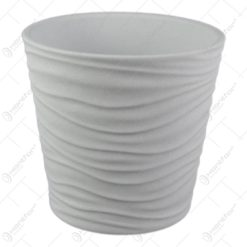 Ghiveci ceramica Sonora White 14x13 CM