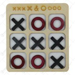 Joc educativ X si 0 din lemn 16x18 CM