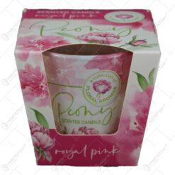 Lumanare parfumata in pahar Peony Royal Pink/Powder Pink 8x7 CM
