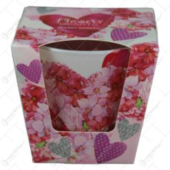 Lumanare parfumata in pahar Flowers Hearts Secret Garden/Dream Garden
