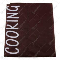 Sort bucatarie cu buzunare din bumbac Cooking 60 x70 CM