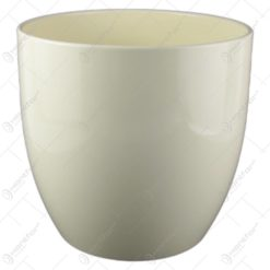 Ghiveci ceramica Basel Full Color Crem 24x23 CM
