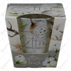 Lumanare parfumata in pahar Cotton Fresh