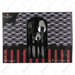 Set tacamuri 24 de piese din inox satinat Berlinger Haus - Black