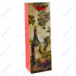 Punga cadou pentru bauturi - Design cu vin