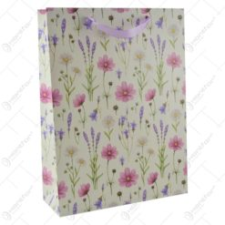 Punga pentru cadouri - Design cu flori