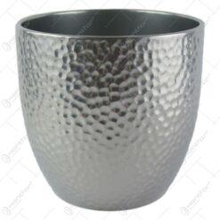 Ghiveci ceramica Boston Argint 21x20 CM