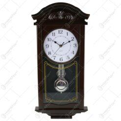 Ceas de perete cu pendula din lemn 58 CM