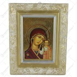 Placheta din ipsos cu rama 20x25 CM - Maria cu pruncul/Isus
