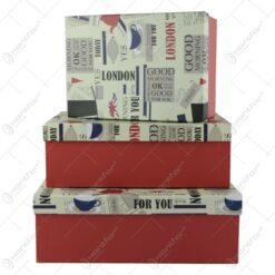 Set 3 cutii cadou Good Morning London