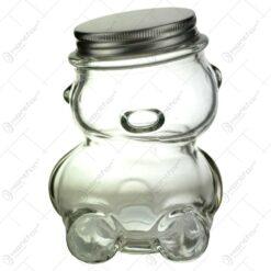 Borcan Ursulet din sticla pentru miere 9x12 CM