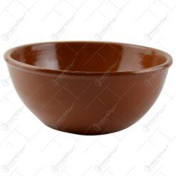 Bol pentru servire realizat din ceramica - Maro