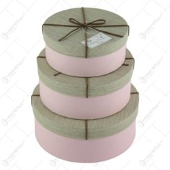 Set 3 cutii cadou Happy Every Day roz