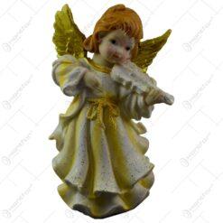 Figurina decorativa realizata din ceramica - Inger - Auriu - Diferite modele (18 CM)
