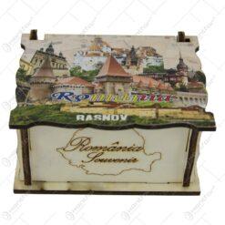 Cutie decorativa din lemn 10x8 CM - Romania