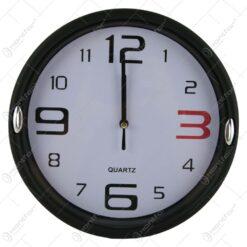 Ceas de perete rotund din plastic Negru 22 CM