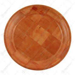 Tava rotunda din bambus 20 CM