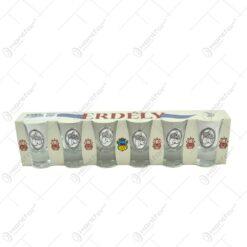 Set pahare de tuica cu decor embosat in cutie decorativa - Erdély - Prune - 6 pahare