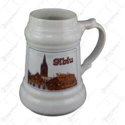 Halba bere ceramica Souvenir 20 CM Sibiu/Iasi/Suceava/Galati - Scurt Istoric
