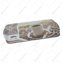 Tava Jerbo din plastic Coffee Time 38x16 CM