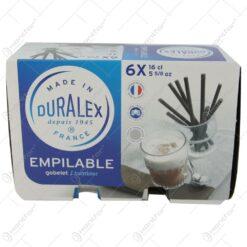Set 6 pahare pentru apa/suc/racoritoare 160 ml Duralex