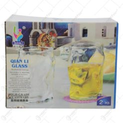 Set 2 pahare pentru apa/suc/racoritoare