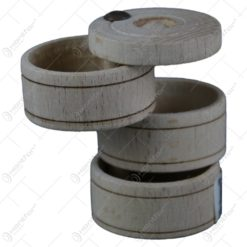 Solnita din lemn cu trei compartimente 6 CM