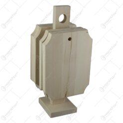Set 4 tocatoare din lemn cu suport 14x30 CM