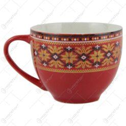 Cana din ceramica 7 CM cu motive traditionale romanesti
