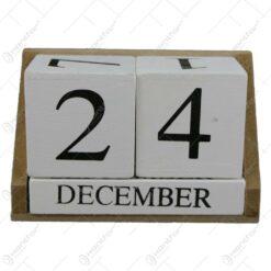 Calendar perpetuu din lemn 14x9 CM
