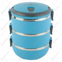 "Caserola termica ""Lunchbox""cu 3 compartimente din plastic Blaumann"