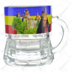 Pahar din sticla pentru lichior/snaps - Design Romania/Bran