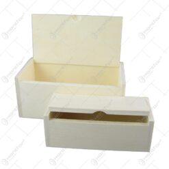 Set 2 cutii din lemn 17x8 CM
