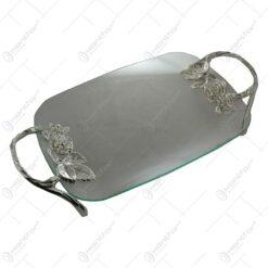 Platou realizat din sticla - Elegant Metal