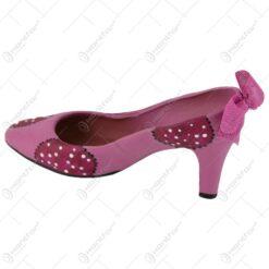 Ghiveci in forma de pantof cu toc inalt din ceramica 23x12 CM