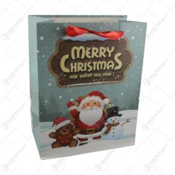 Punga cadou Craciun din hartie 18x23 CM - Merry Christmas and Happy New Year