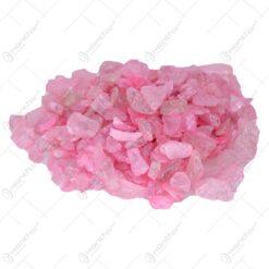 Pietre decorative din sticla Roz pal 2 CM - 500 gr