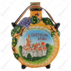 Plosca din ceramica cu Castelul Bran/Romania