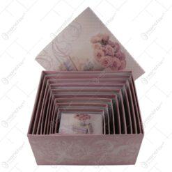Set 10 cutii pentru cadouri realizate din carton - Diverse modele