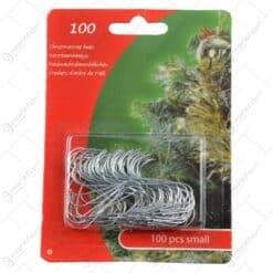 Set 100 agatatoare realizate din metal pentru decoratiuni de brad de craciun