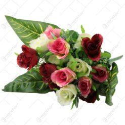 Buchet de trandafiri artificiali 15 fire 39 CM